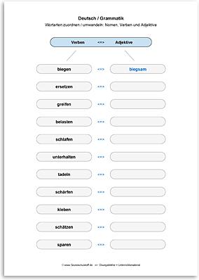 Download => Grammatik => Wortarten zuordnen oder umwandeln (30)