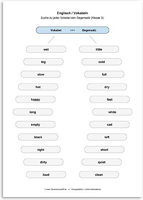 Download => Gegensätze zu Vokabeln finden (2)
