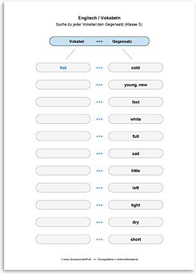 Download => Gegensätze zu Vokabeln finden (4)