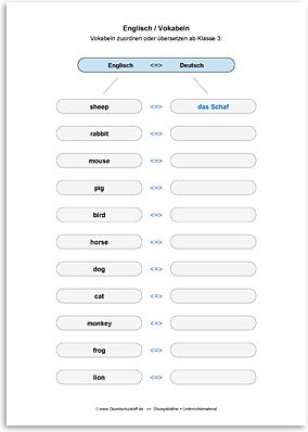 Download => Vokabeln zuordnen oder übersetzen (25)