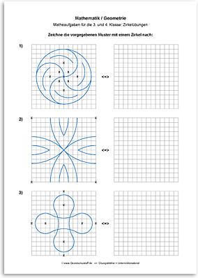 arbeitsblatt mathematik geometrie zirkeluebungen nr. Black Bedroom Furniture Sets. Home Design Ideas