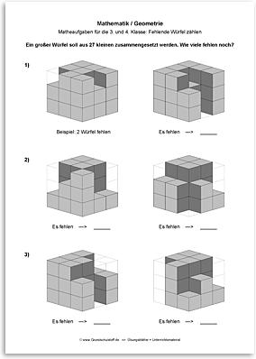 Download => Geometrie => Fehlende Würfel zählen (1)