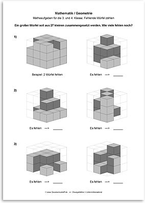 Download => Geometrie => Fehlende Würfel zählen (10)
