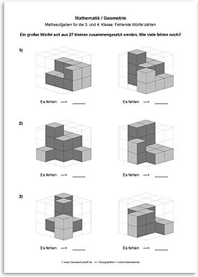 Download => Geometrie => Fehlende Würfel zählen (11)