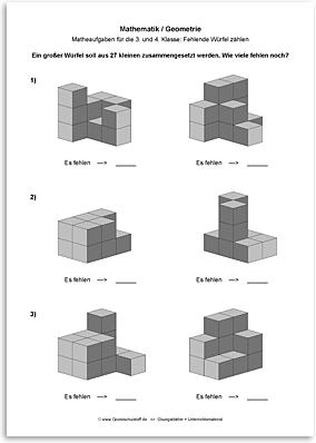 Download => Geometrie => Fehlende Würfel zählen (12)
