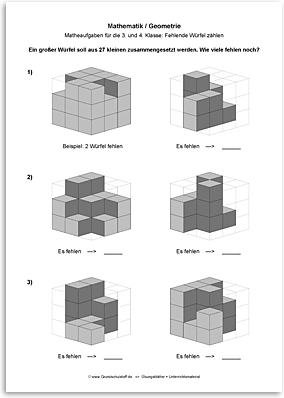 Download => Geometrie => Fehlende Würfel zählen (13)