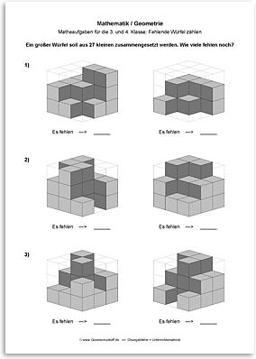 Download => Geometrie => Fehlende Würfel zählen (14)