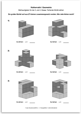 Download => Geometrie => Fehlende Würfel zählen (15)