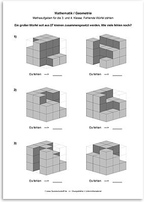Download => Geometrie => Fehlende Würfel zählen (2)