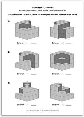 Download => Geometrie => Fehlende Würfel zählen (3)
