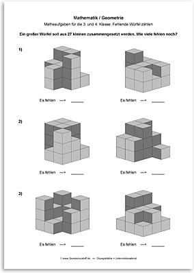 Download => Geometrie => Fehlende Würfel zählen (6)