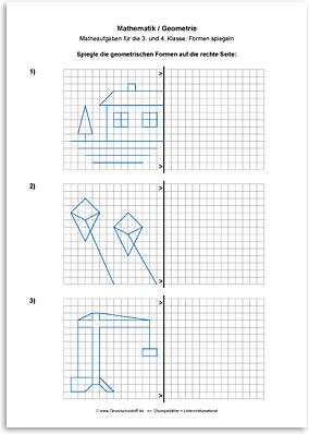 Download => Geometrie => Linien und Figuren spiegeln (2)