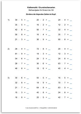 Download => Grundrechenarten => Division bis 1000 (1)